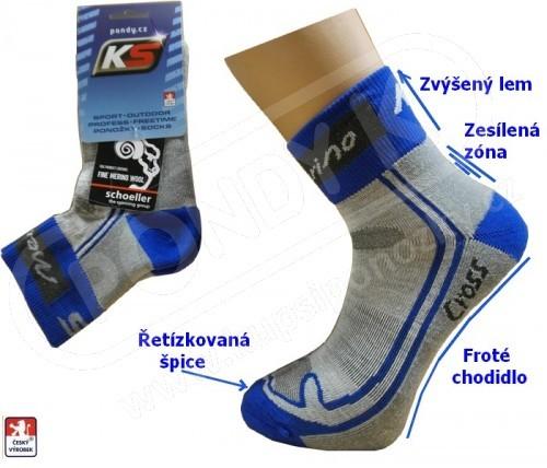 7fa5be4e08a Běžecké ponožky KS CROSS MERINO vlna 37-47